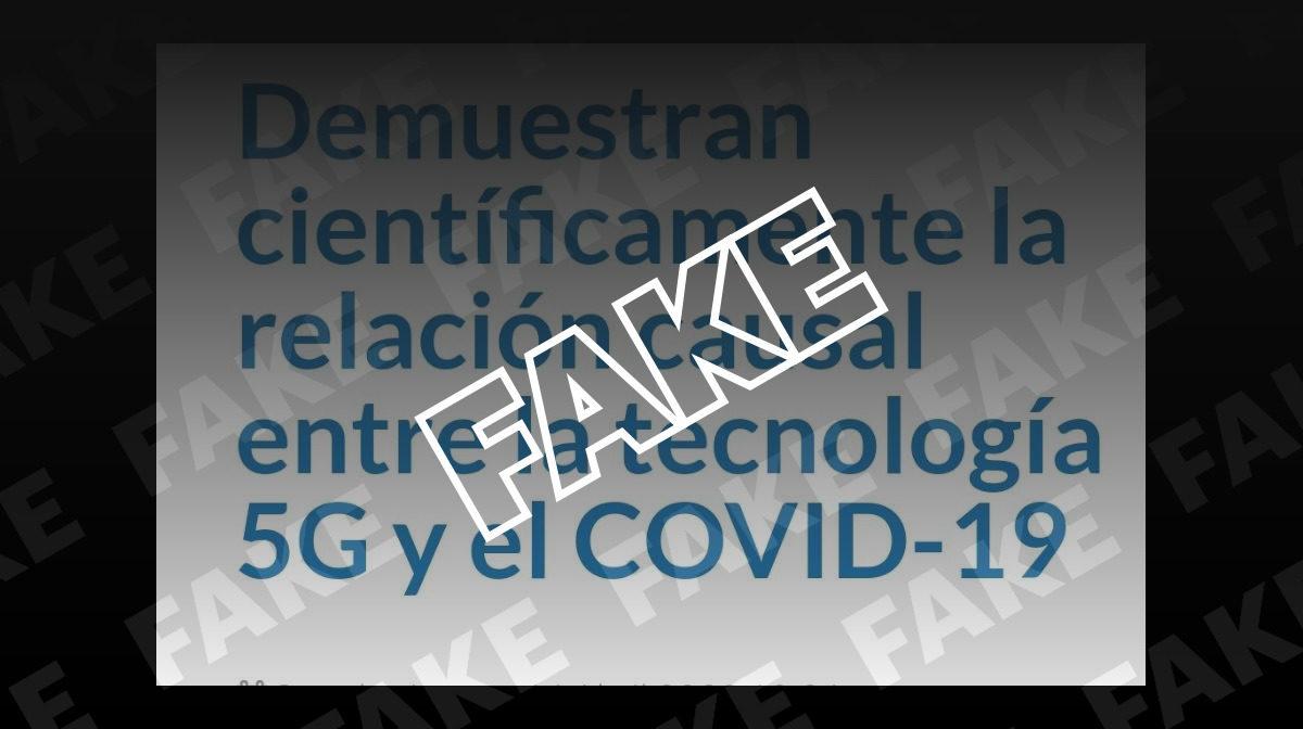 Es falso que la propagación del COVID-19 se debe al 5G