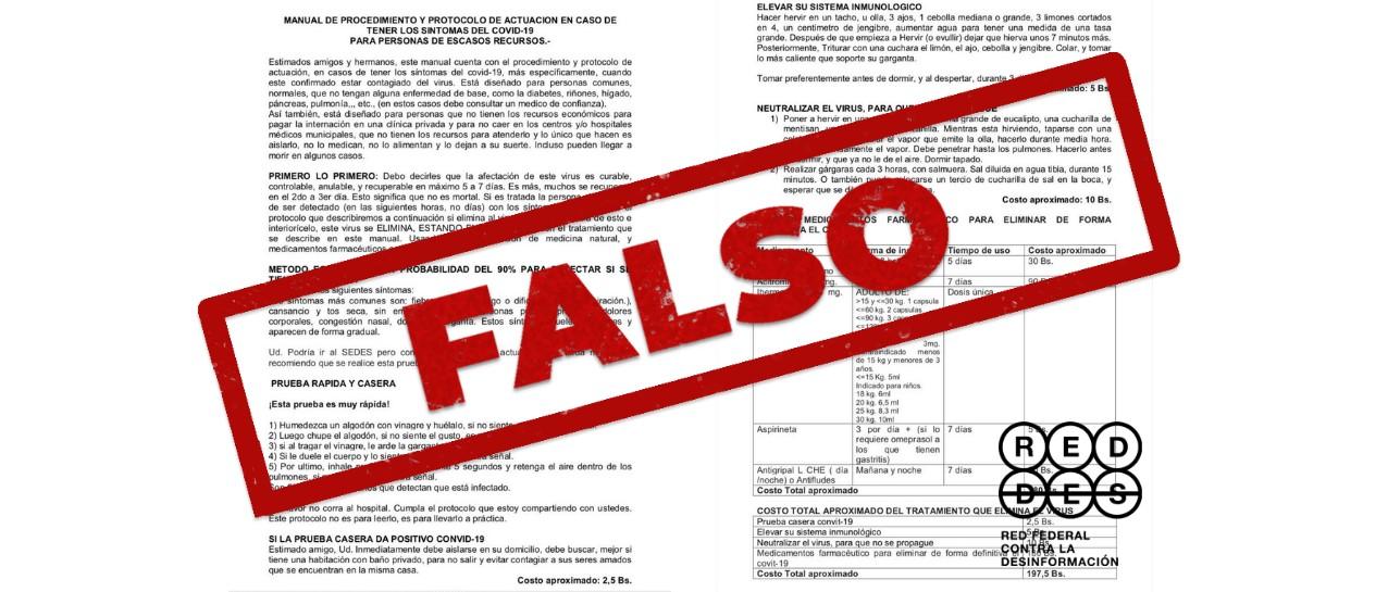 Es falso que el Gobierno boliviano haya publicado una receta para eliminar de forma definitiva el nuevo coronavirus