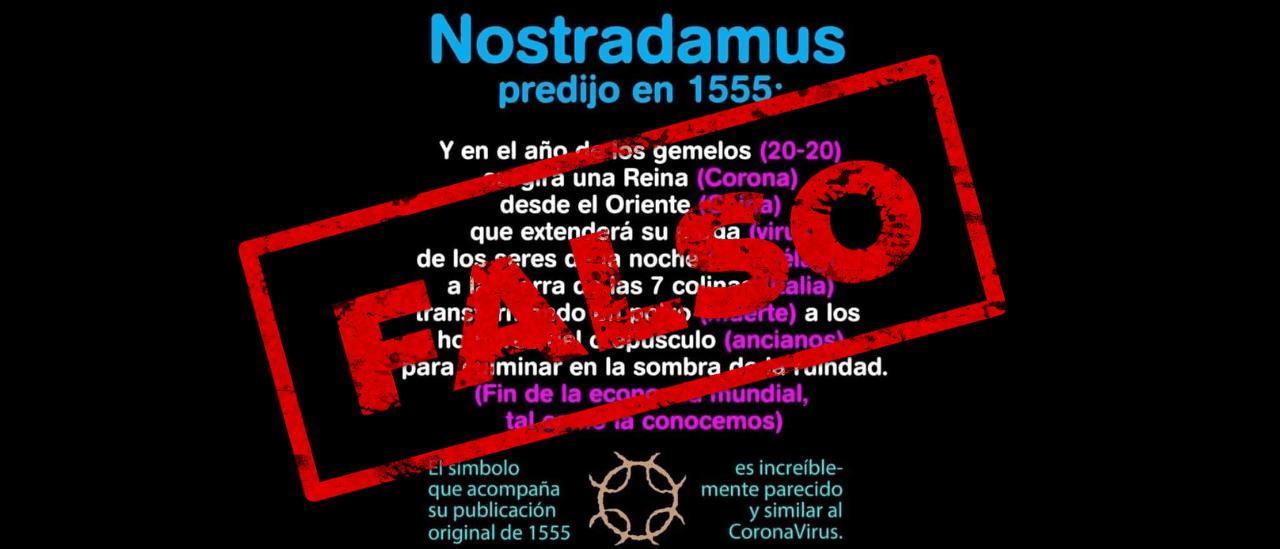 Es falso que Nostradamus predijo el coronavirus