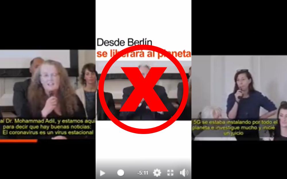 Es falso el video de la 'Coalición Mundial de Médicos' contra el COVID-19