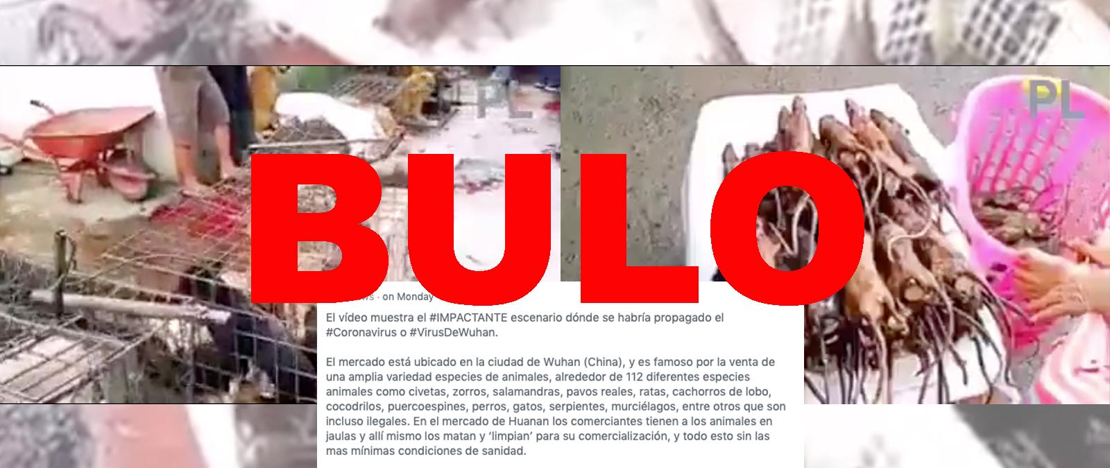 No, este vídeo de un mercado no está grabado en Wuhan (China) ni es el escenario donde se ha «propagado el coronavirus»: el vídeo está grabado en Indonesia y es de julio de 2019